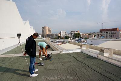 Drone sur les toits du Hall 6