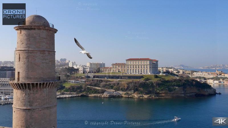 Fort Saint-Jean et Palais du Pharo © Drone-Pictures
