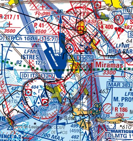 Carte Aero Istres-Fos