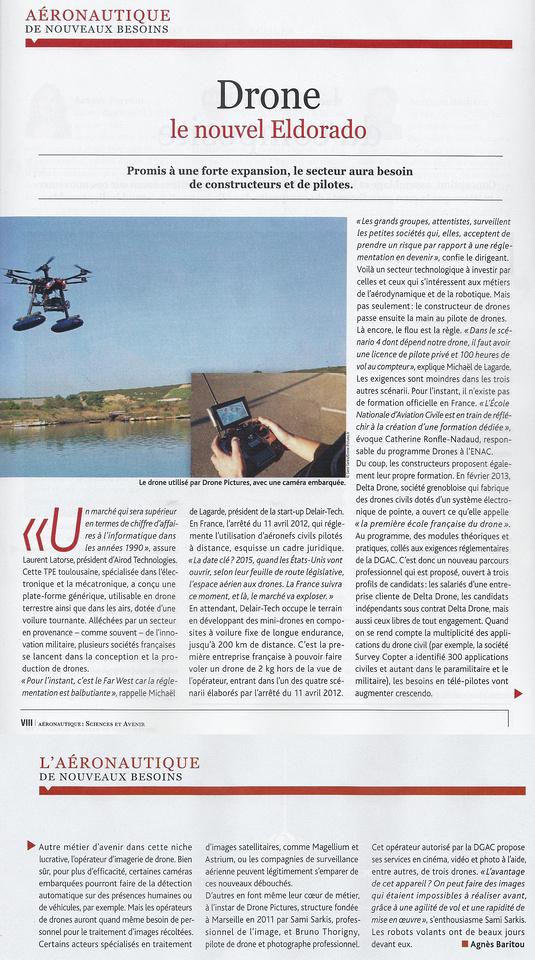 Sciences et Avenir n°796 -Drone Pictures - Juin 2013