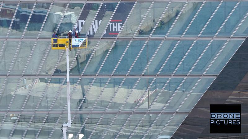 Photo aérienne Tour CMA-CGM Jour J1 © Drone-Pictures