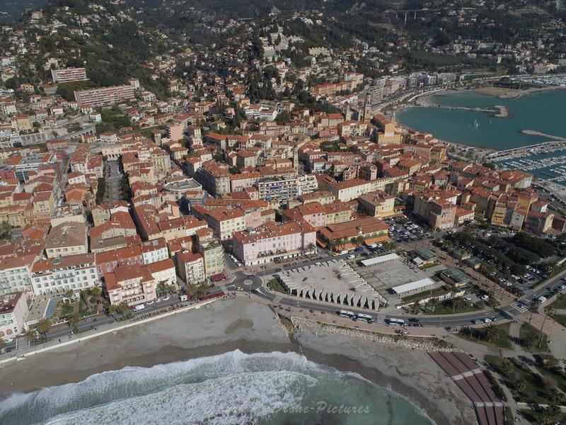 Vue aérienne de Menton © Drone-Pictures.fr