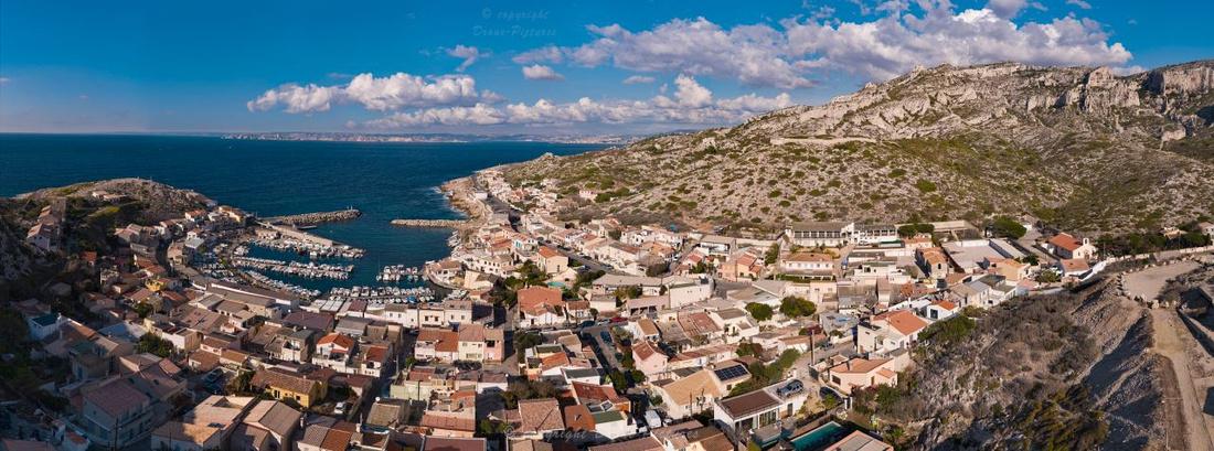Giga-Pano aérien Port des Goudes Marseille © Drone-Pictures