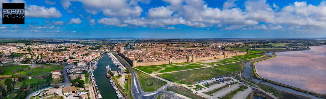 Giga-Pano aérien Aigues-Mortes 45mm-1240p © Drone-Pictures