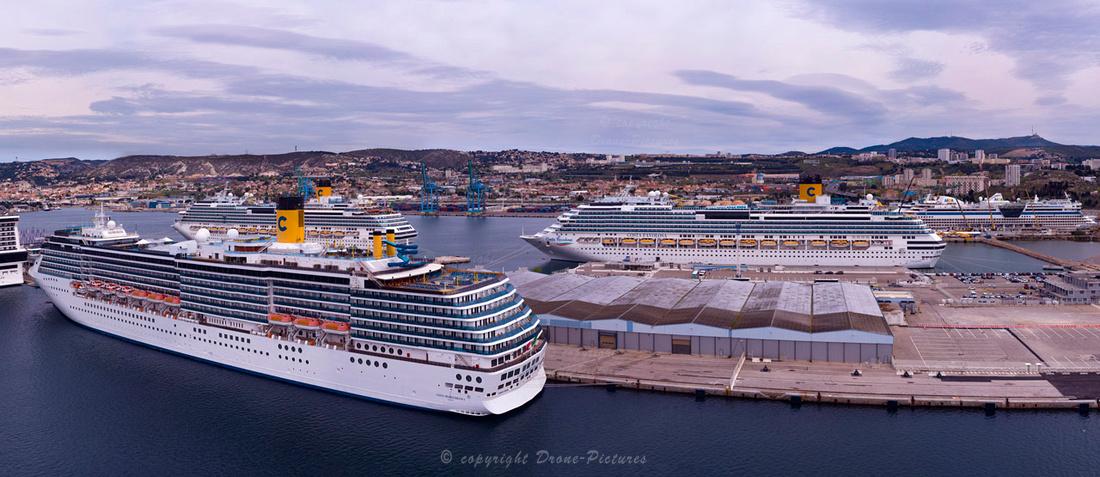 GigaPano Aérien au Port de Marseille Bateaux Costa à quai -0257-16-images © Drone-Pictures