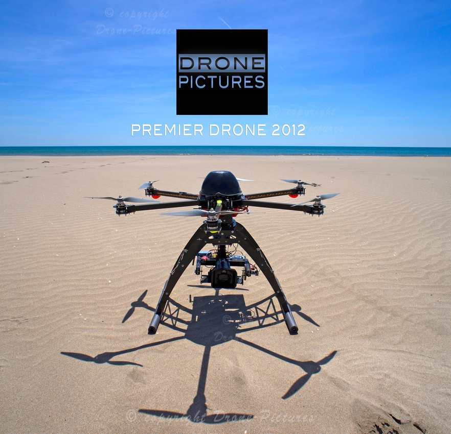 Unmanned aerial vehicle (UAV) on a beach