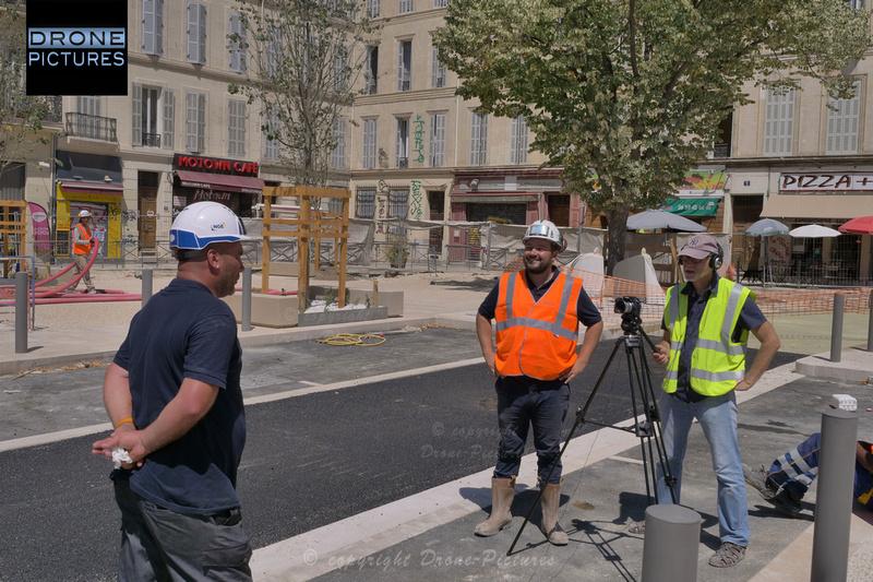 Interview du chef de chantier NGE place jean-Jaurès par Drone-Pictures