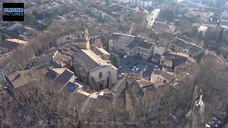 Grans-Village+église-Drone-Pictures