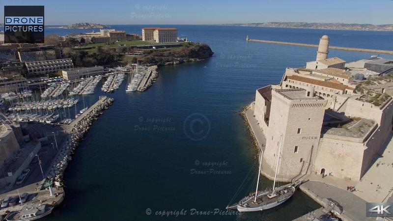 Mucem et Palais du Pharo © Drone-Pictures