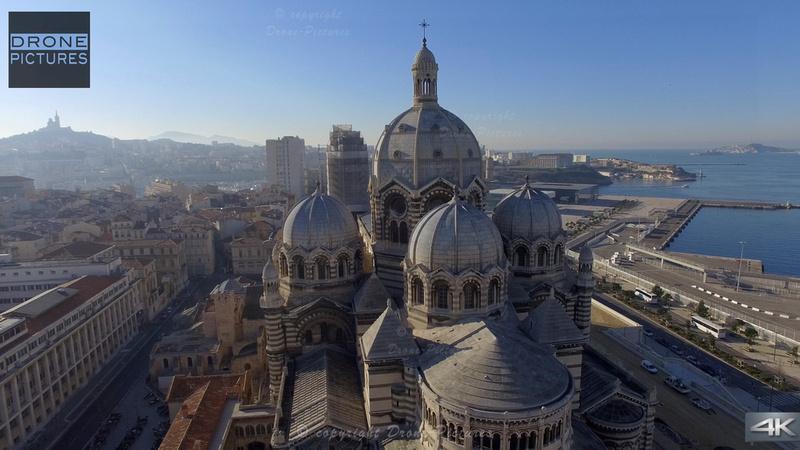 Cathedrale La Major et le J4 © Drone-Pictures