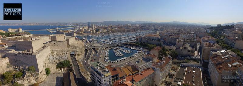 Panorama 180 du Vieux-Port, , vue par drone - 1 © Drone-Pictures
