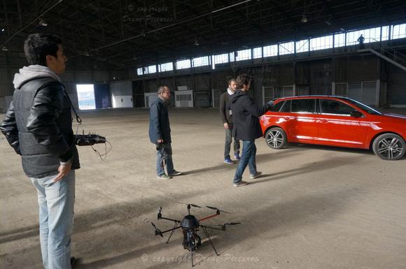 Tournage Pub Skoda Rapid - Drone-Picture