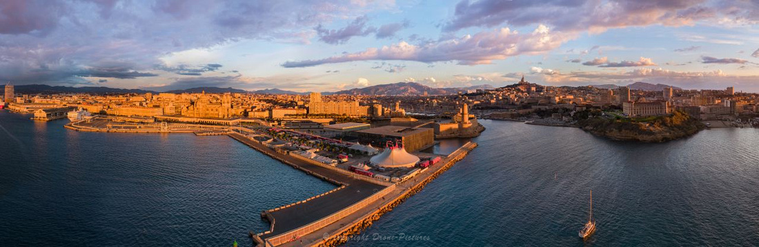 Giga-Pano aérien Vieux-Port GPMM Marseille © Drone-Pictures