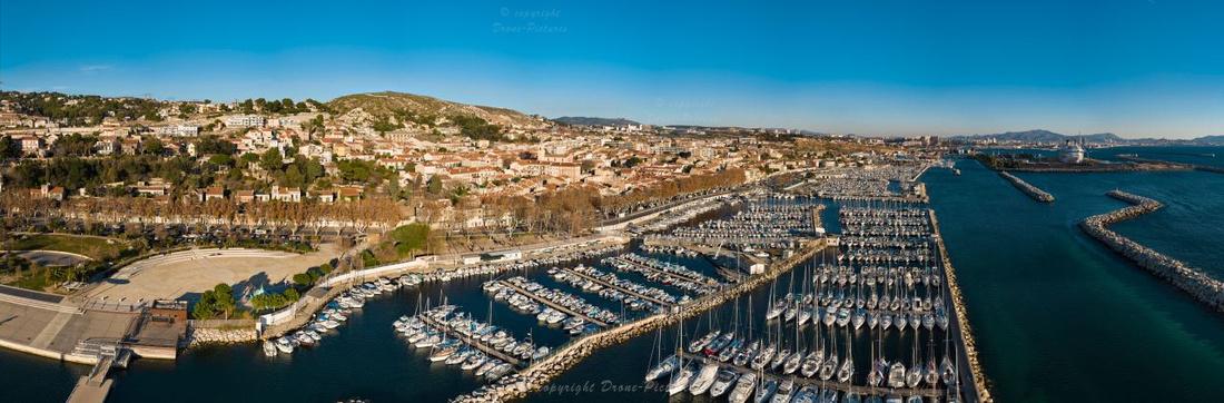 Giga-Pano aérien Estaque Village et port Marseille © Drone-Pictures