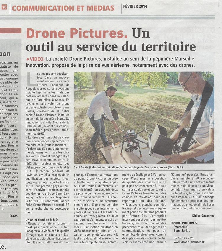 Journal des Entreprises - 7-02-2014 Drone-Pictures